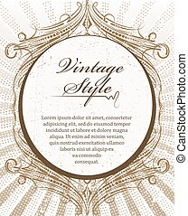 Rich decorated vintage style abstract background.