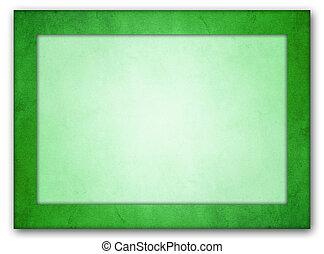 Rich green texture frame. Light green interior.