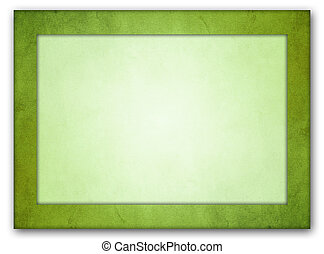 Rich lime green texture frame. Light lime green interior.
