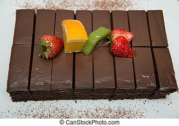 Rich milk chocolate cake