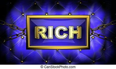 rich on velvet background