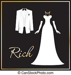 rich-people - Luxurious dress code - a symbol of wealth,...