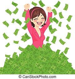 Rich Successful Businesswoman
