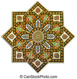 Rich vintage tiled pattern decoration - Ancient tiled ...