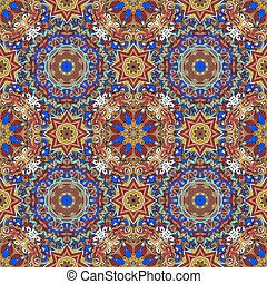 Rich with saturated colors, beautiful medieval ornament....
