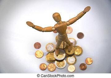 rich wooden mannequin, puppet