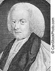 Richard Hurd (1720-1808) on engraving from the 1700s. English writer and bishop of Worcester. Published as the Act directs, 1781 by I.Walker, Paternoster Row.
