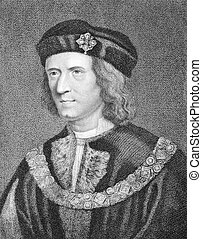 Richard III (1452-1485) on engraving from the 1800s. King of...
