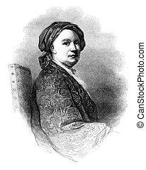 richard, wilson, vendimia, pintor, inglés, engraving.