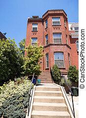 Richardsonian Brick Row Home Washington DC USA