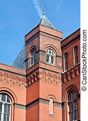 Richardsonian Romanesque Building Tower Washington