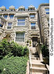 Richardsonian Romanesque Stone Row Home Washington
