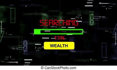 richesse, recherche, ligne