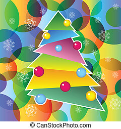 richly, décoré, arbre, noël