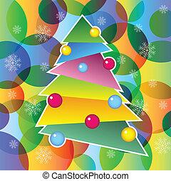 richly, díszes, fa, karácsony
