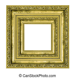 richly decorated golden square frame