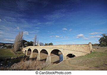 richmond , γέφυρα , tasmania , αυστραλία , χειμώναs