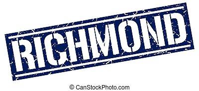 Richmond blue square stamp