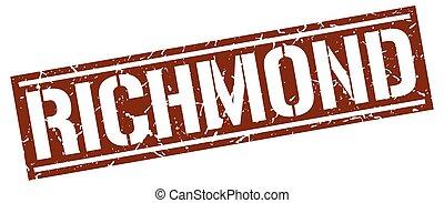 Richmond brown square stamp