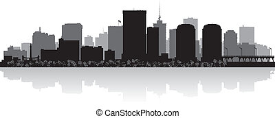 Richmond city skyline silhouette - Richmond USA city skyline...