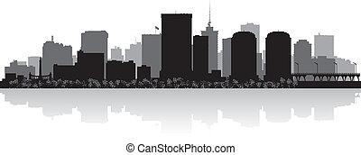 richmond miasto, skyline przedstawią w sylwecie