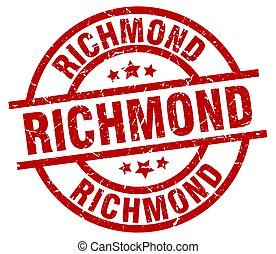 Richmond red round grunge stamp