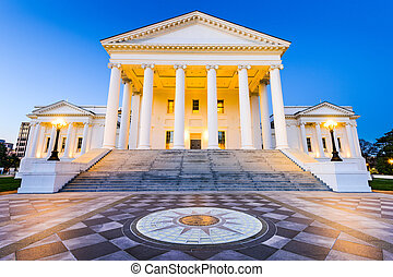 Richmond Virginia State Capitol - Virginia State Capitol in...
