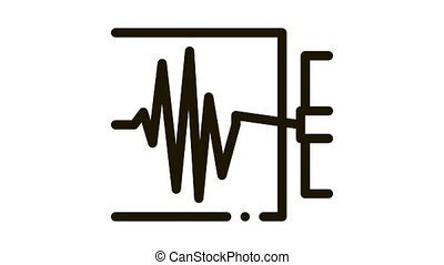 richter scale measurement Icon Animation. black richter scale measurement animated icon on white background