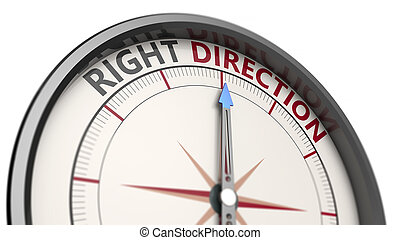 richting, concept, rechts