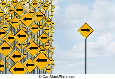 richting, individualiteit