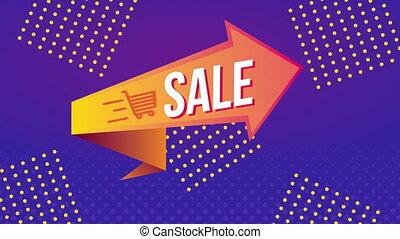 richtingwijzer, commercieel, verkoop, etiket