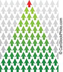 richtingwijzer, kerstboom, zakelijk, thema