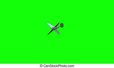 richtingwijzer, vliegen, plank, naar, pijl