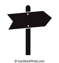 richtung, abbildung, zeichen, design, straße, ikone