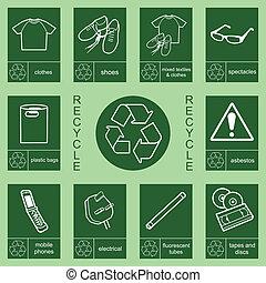 riciclaggio, 2, collezione, segno