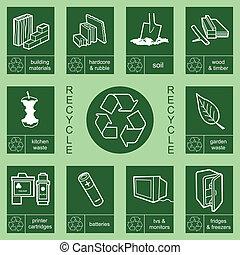 riciclaggio, 4, collezione, segno