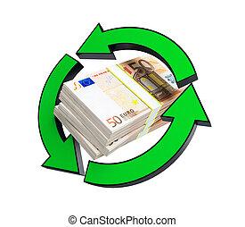 riciclaggio, accatastare, euro