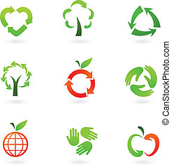 riciclaggio, icone