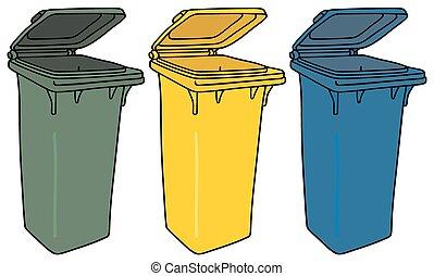riciclaggio, immondizia, contenitori