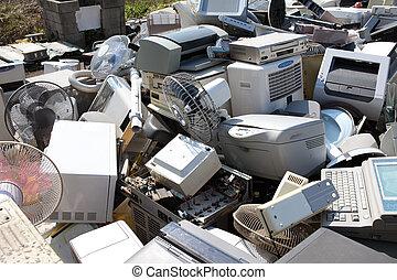 riciclaggio, metallo, plastica