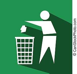 riciclaggio, segno, icona