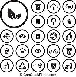 riciclare, ambiente, icona