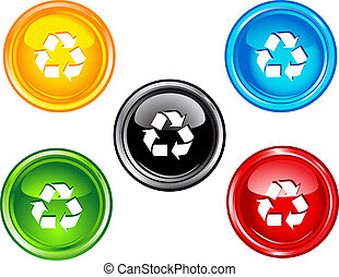 riciclare, bottoni