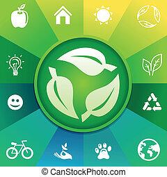 riciclare, concetto, vettore