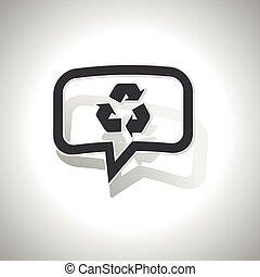 riciclare, curvo, messaggio, icona