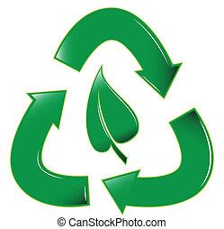 riciclare, foglia