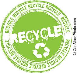 riciclare, francobollo