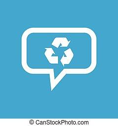riciclare, messaggio, icona