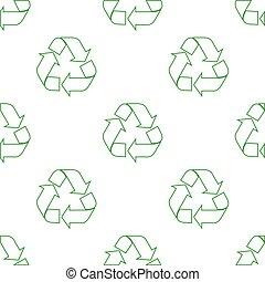 riciclare, modello, seamless