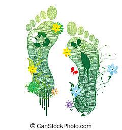 riciclare, piedi